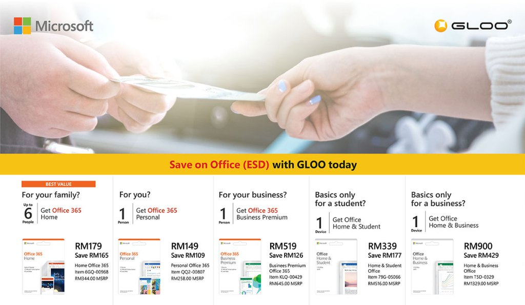 Save up to RM429 on your Microsoft Office ESD license before 30th September! 34