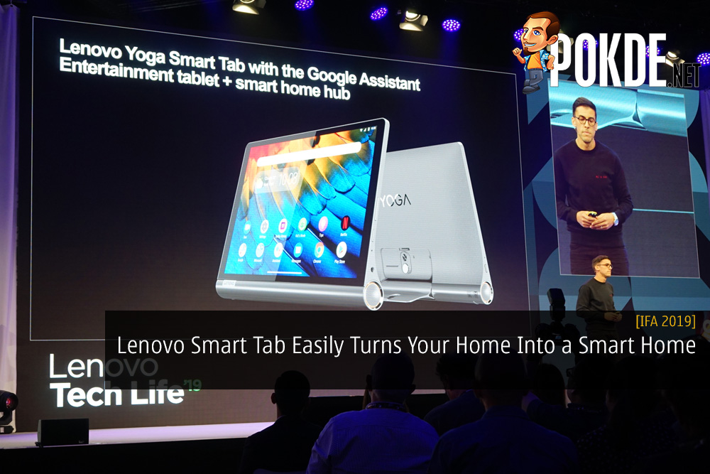 [IFA 2019] Lenovo Smart Tab Easily Turns Your Home Into a Smart Home