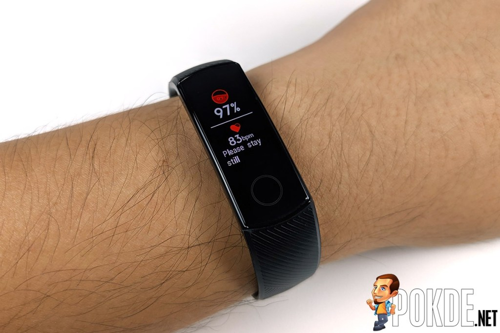 HONOR Band 5 review measuring SPO2