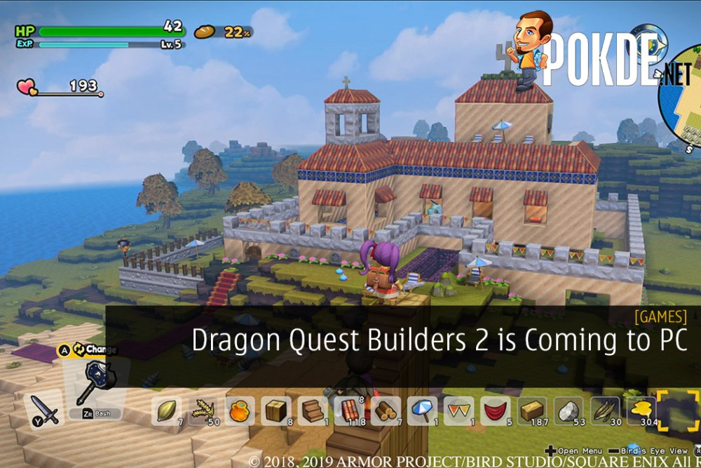 Dragon Quest Builders 2 is Coming to PC