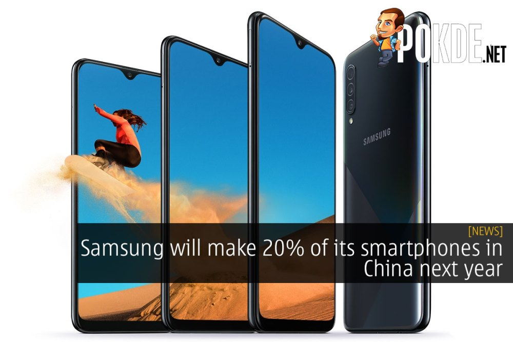 Samsung will make 20% of its smartphones in China next year 23