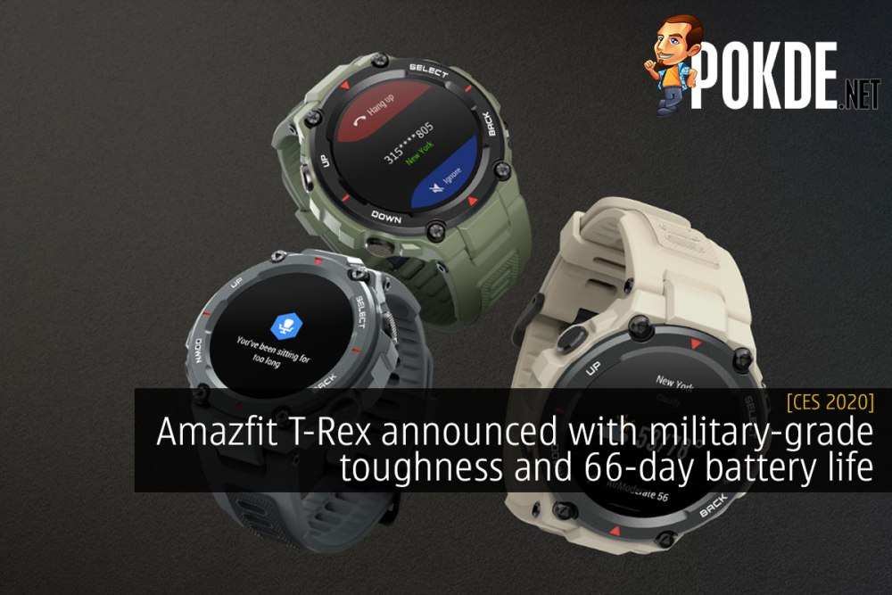 CES 2020: Amazfit T-Rex announced with military-grade toughness and 66-day battery life 21