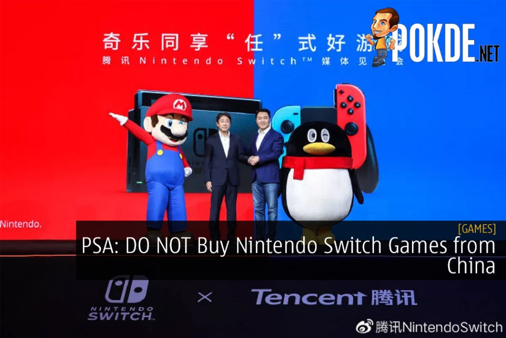 PSA: DO NOT Buy Nintendo Switch Games from China