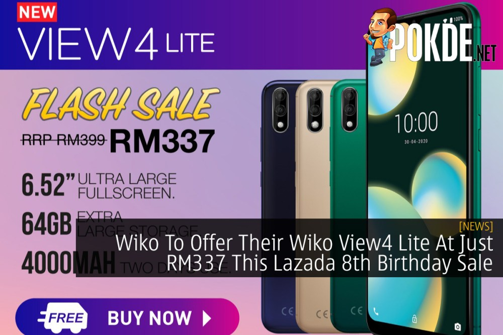 Wiko To Offer Their Wiko View4 Lite At Just RM337 This Lazada 8th Birthday Sale 25