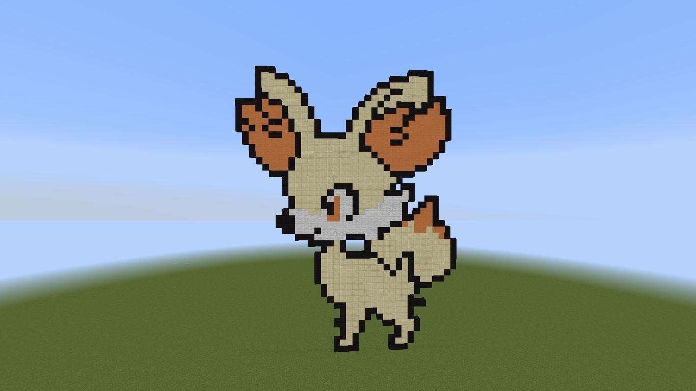 Fennekin Minecraft Pixel Art Pokcharms