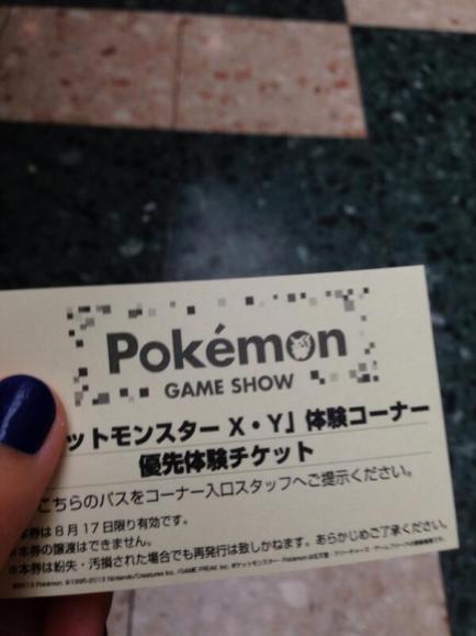 Rhea_Poke: Shows us her VIP Demo ticket!