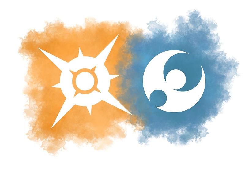 sun & moon logo splash