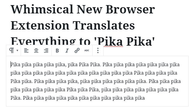 Pika pika translation