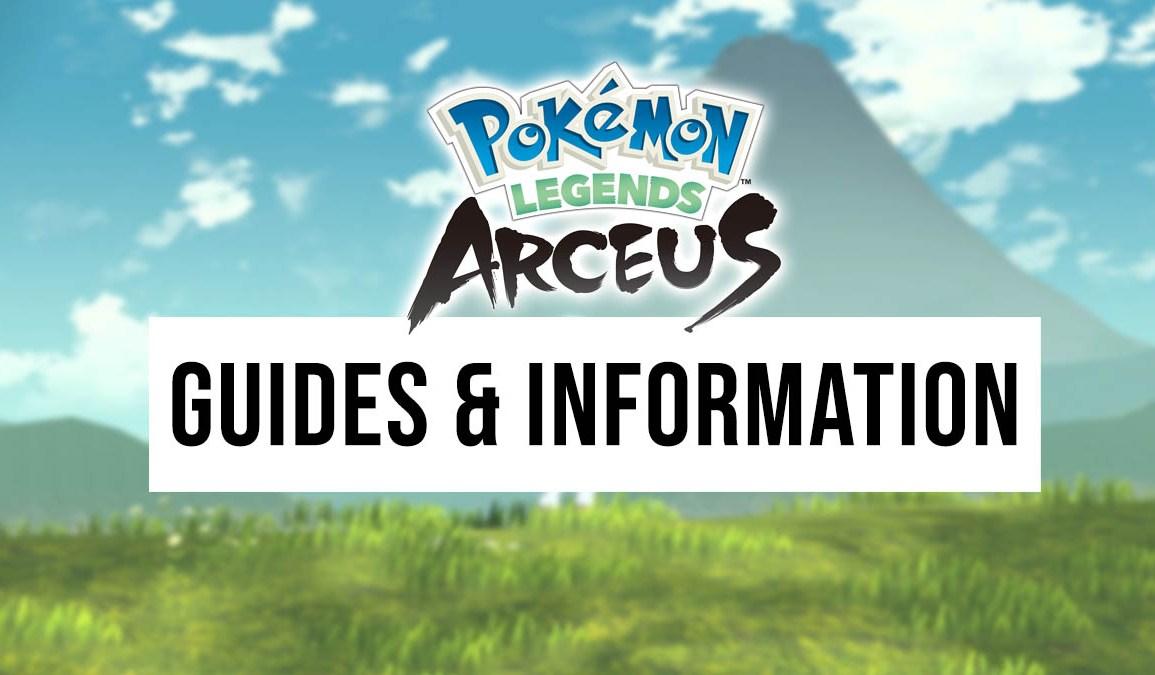 Pokémon Legends: Arceus guides and information