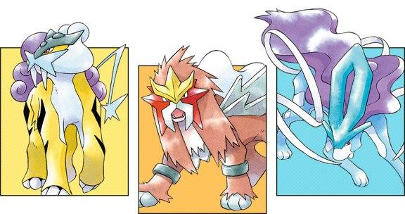 Perros Legendarios - Pokémon Cristal