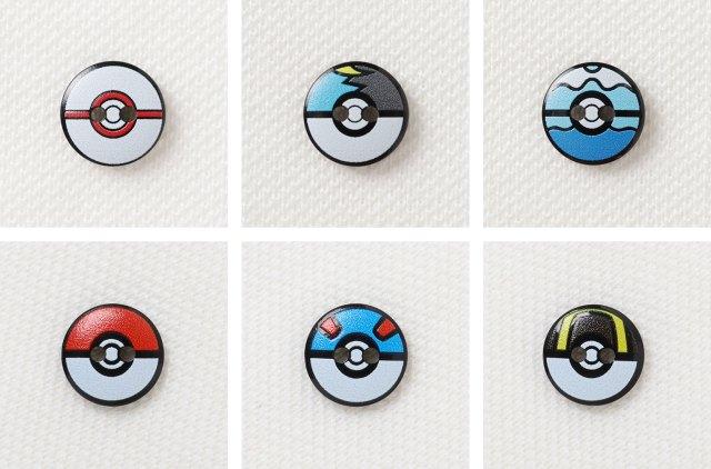 Specially Designed Poké Ball Buttons