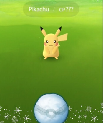 Pokemon Go bug frozen pokeball pikachu