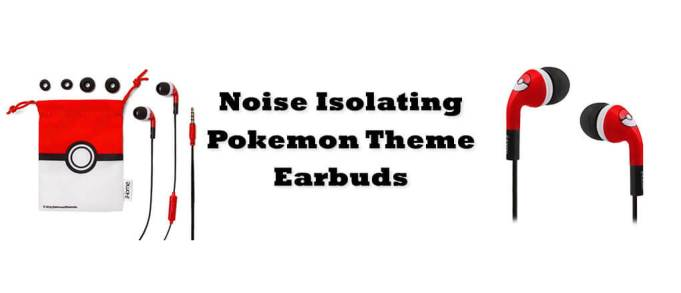 Noise Isolating Pokemon Earbuds