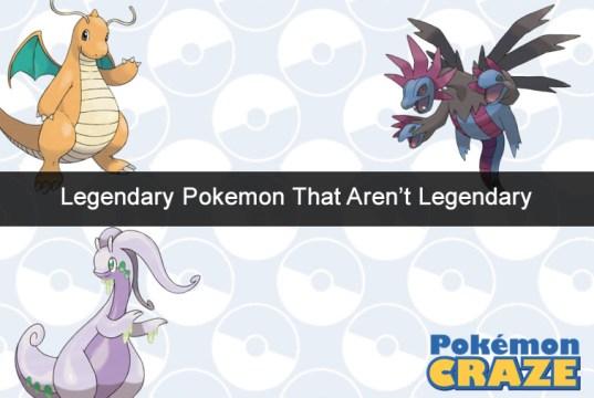 Legendary Pokemon that Aren't Legendary
