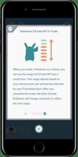 Pokémon CP y HP en el comercio