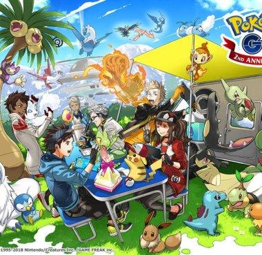 Arte do 2º Aniversário de Pokémon GO
