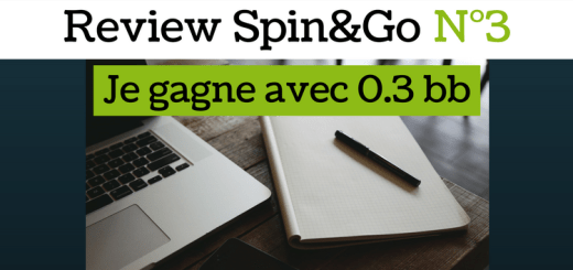 Review Spin&Go N°3 - Je gagne avec 0.3bb