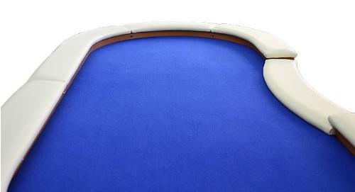 LED-Beleuchtung Pokertisch Spieltuch Filz blau