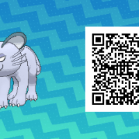 Pokemon Sun and Moon QR Scanner codes for Alolan Persian and Shiny Alolan Persian