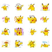 New Pikachu's Lively Voiced Pokémon stickers now available on LINE