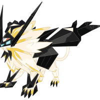 Alternate artwork for Solgaleo and Lunala's new Necrozma forms in Pokémon Ultra Sun and Ultra Moon