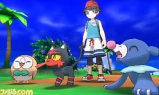 famitsu_screenshot_of_popplio_litten_and_rowlet_and_male_trainer_in_pokemon_ultra_sun_and_ultra_moon