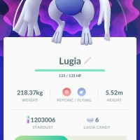 First Pokémon GO screenshots of successfully-captured Legendaries Lugia and Articuno