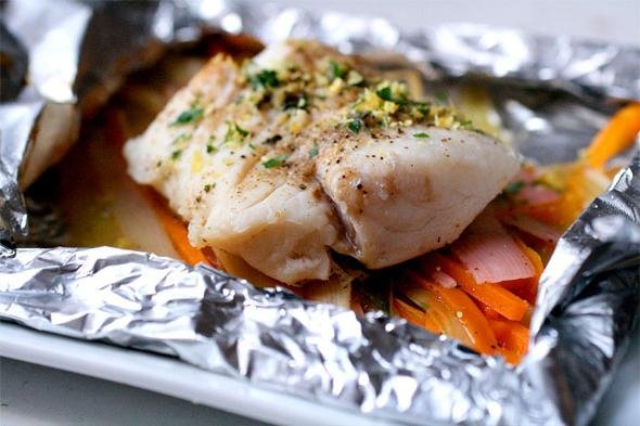 Cod in the oven with vegetables