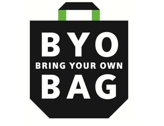 Graphic image that reads Bring Your Own bag