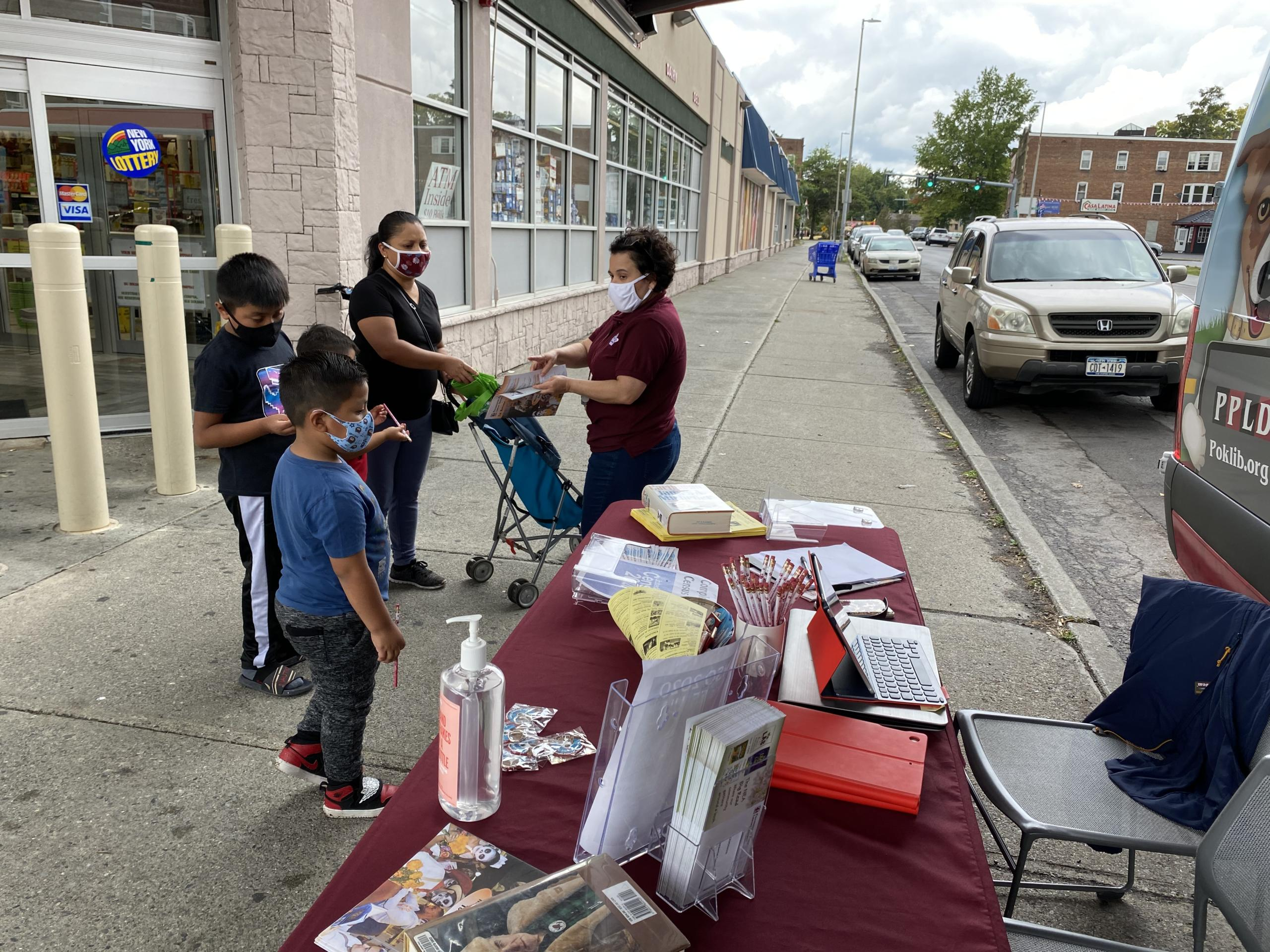 Photo #4 of Rover bookmobile at Fresh Market.