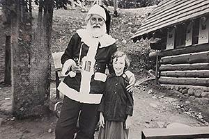 06 - Betty Lou Ryan and Santa, 1949