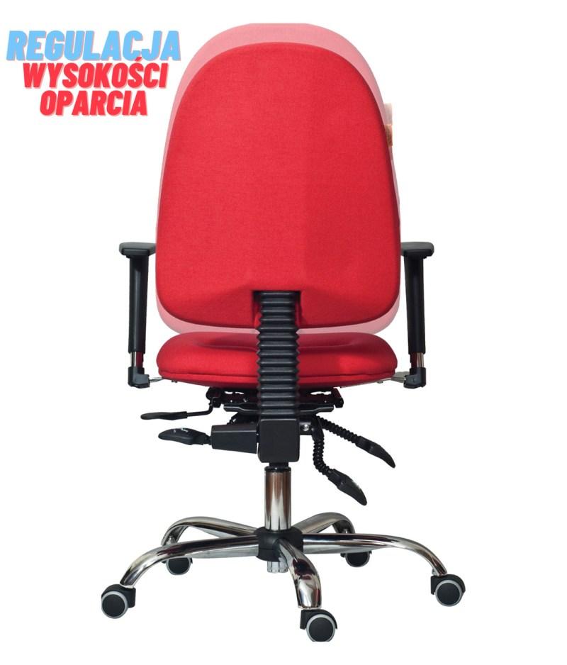 regulacja wysokości oparcia krzesła rehabilitacyjnego classic pro