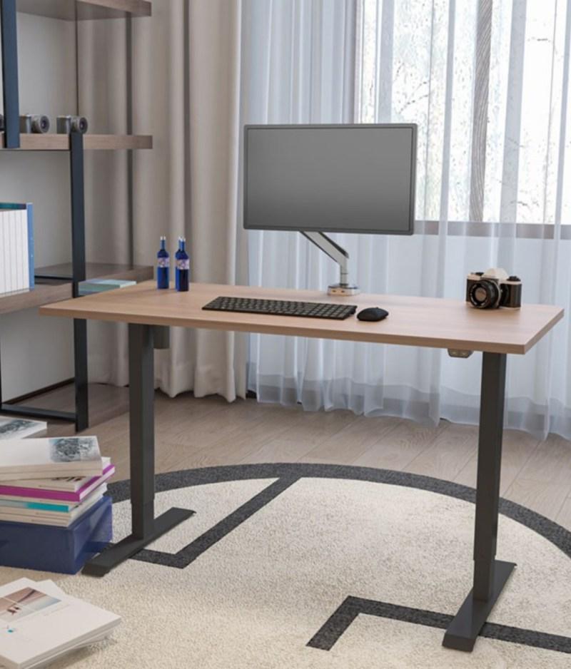 Biurko z elektrycznie regulowanÄ… wysokoÅ›ciÄ… do pracy przed komputerem na stojÄ…co i siedzÄ…co, Basic w home office