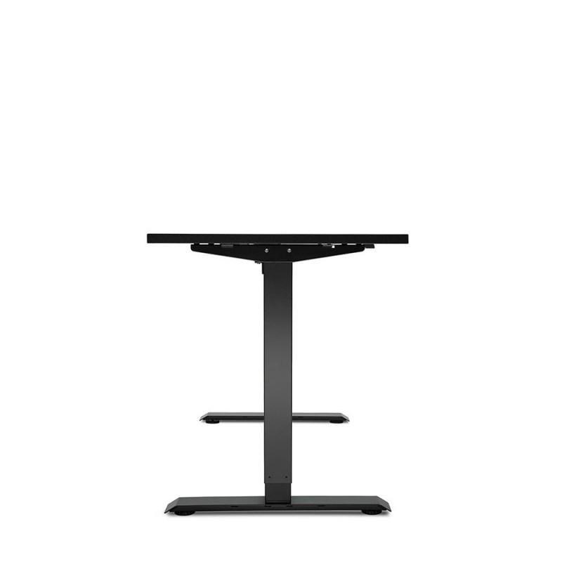 Biurko czarne z elektrycznie regulowanÄ… wysokoÅ›ciÄ… do pracy przed komputerem na stojÄ…co i siedzÄ…co Basic E100, bok