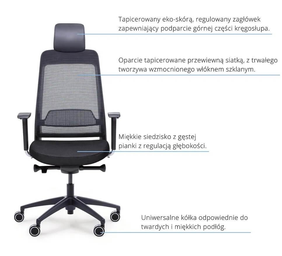 Fotel ergonomiczny Shine EFG 100