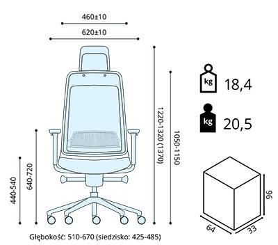 fotel ergonomiczny Shine