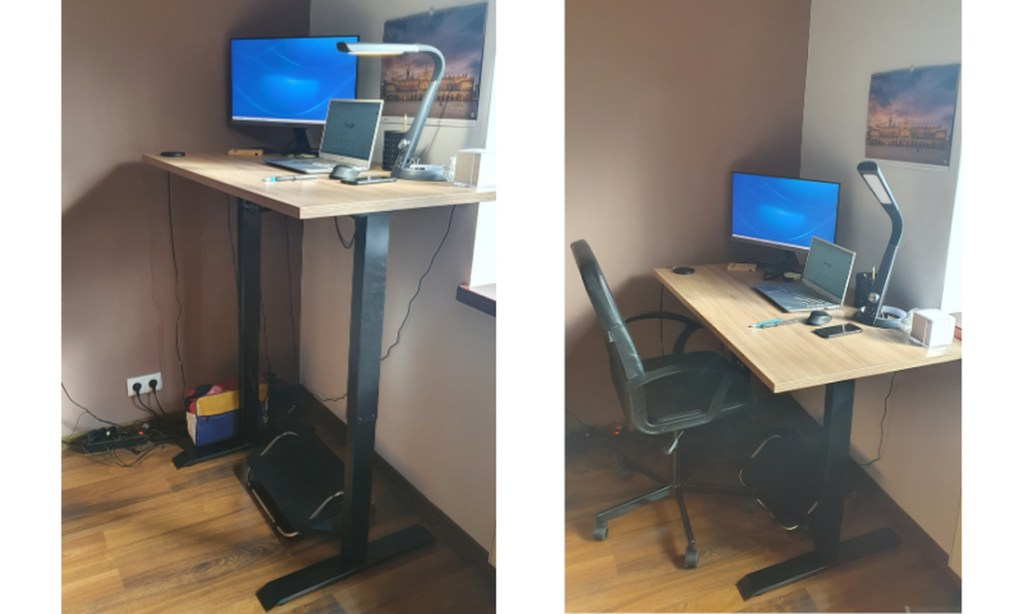 biurko regulowane elektrycznie Zb-100 zdjÄ™cie klienta