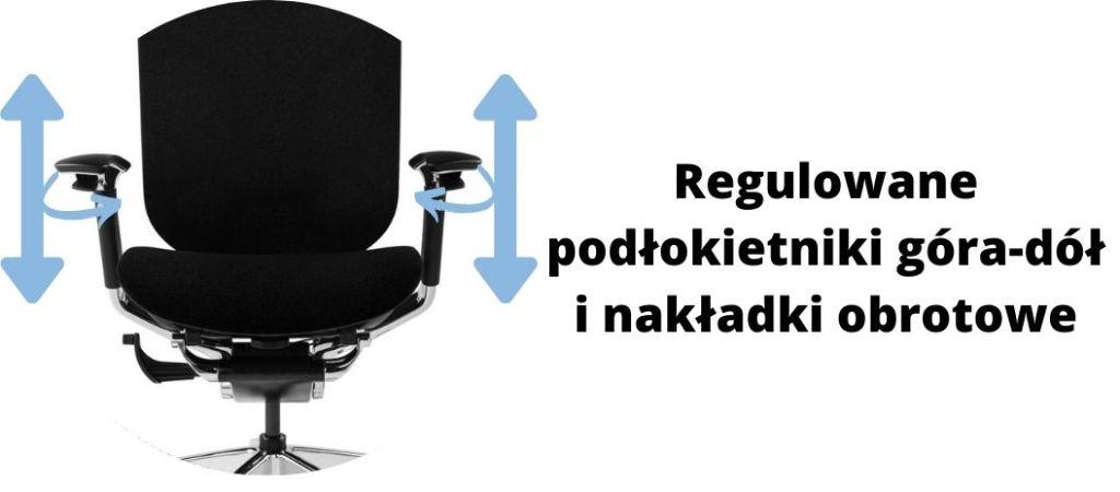 Fotel ergonomiczny Zhuo Challenger dla programisty, regulacja podłokietników