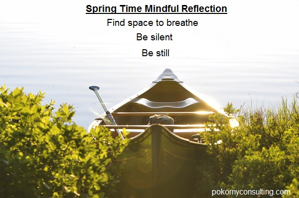 Spring Time Mindful Reflection   Find space to breathe 	 Be silent   Be still
