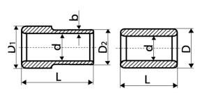 Схема - цилиндры гладкие и с буртами