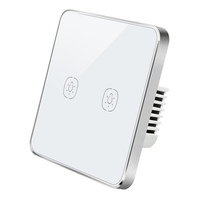 ZemiSmart Zigbee No Neutral 2-Gang Touch Switch 單火雙鍵觸控智能開關
