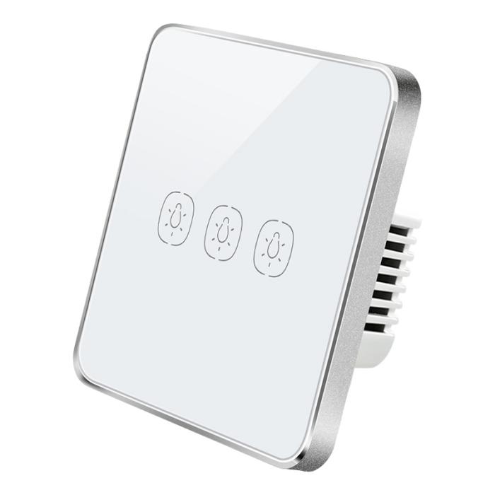 ZemiSmart Zigbee No Neutral 3-Gang Touch Switch 單火三鍵觸控智能開關