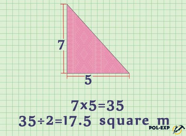 Ejemplo de calcular el área del triángulo.