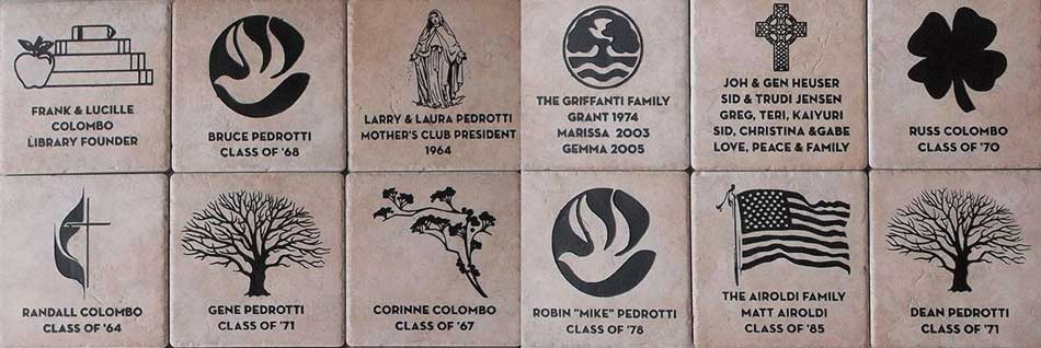 laser engraved personalized tiles