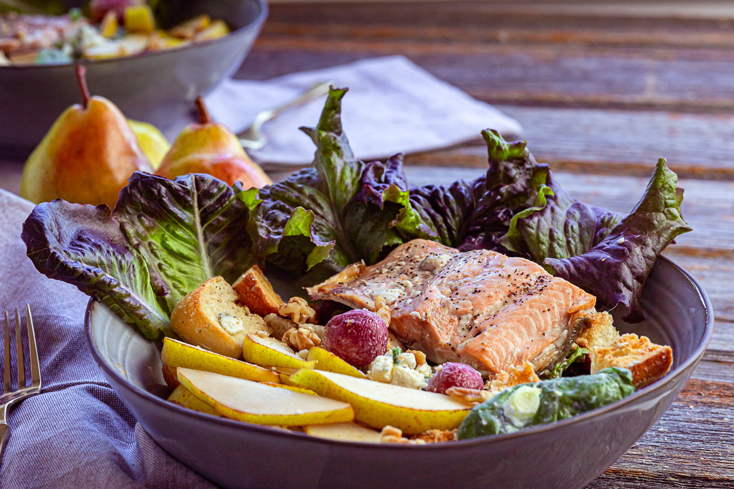 Pear and Salmon salad