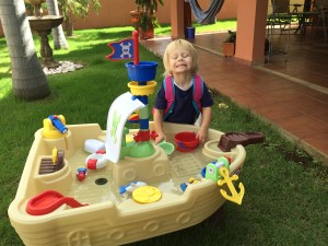 Water table is a gift from Abuela