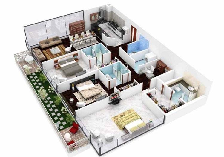 Denah Rumah 2 Lantai Mewah Sumber Referensi Model Rumah Idaman