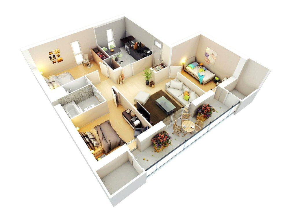 50 Denah Rumah Minimalis Gambar 1 Lantai 2 Lantai Berbagai Type