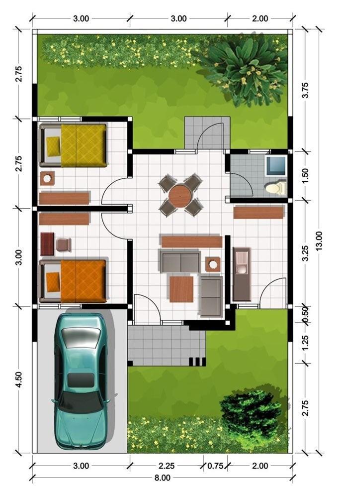 8 Denah Rumah Modern Minimalis Referensi Rumah Idaman Anda