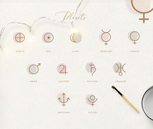 The Ultimate Astrology Icon Pack Planets Glyphs